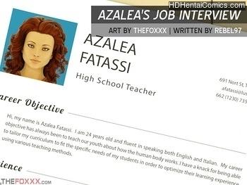 Porn Comics - Azalea's Job Interview Comic Porn